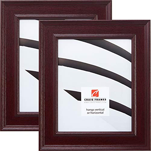 Craig Frames FM97MA 16 x 20-Inch Picture Frame 2-Piece Set, Smooth Finish, 2-Inch Wide, Mahogany Red ()