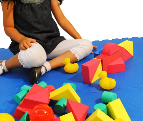 Non-Toxic 70 Piece Non-Recycled Quality foam Wonder Blocks for Children: Soft, Quality, Waterproof, Bright Safe & Quiet