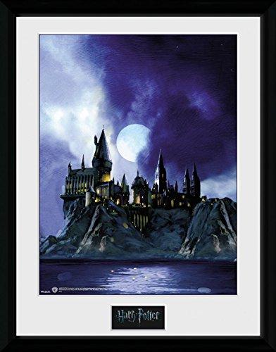 1art1 100196 Harry Potter - Die Hogwarts-Schule Für Hexerei Und Zauberei Gerahmtes Poster Für Fans Und Sammler 40 x 30 cm