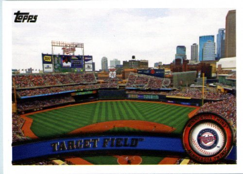 Limited Target (2011 Topps Limited EDITION #MIN17 Target Field Minnesota Twins In a protective screwdown display case!)