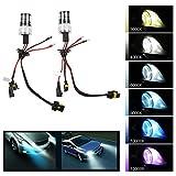 TKOOFN 2 pcs Car Headlight Bulb H7 Hi/Lo Beam HID Xenon Lamp Conversion Kit 55w DC 6000K