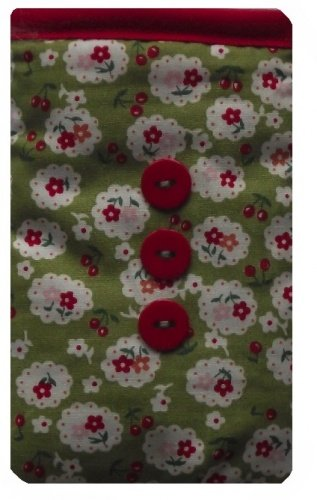 Green Cherry Blossom Print Apple iPhone SE Socke / Case / Cover