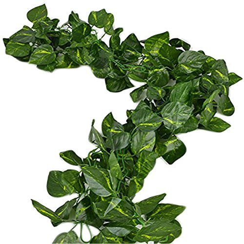 Fresh Garland (Charisma Dress 156 feet Fake Foliage Garland Leaves Decoration Artificial Greenery Ivy Vine Plants for Home Decor Indoor Outdoors (Artificial Scindapsus leaves))