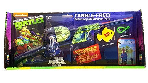 Kid Casters Telescopic No Tangle Fishing Combo Tmnt by Kid Casters