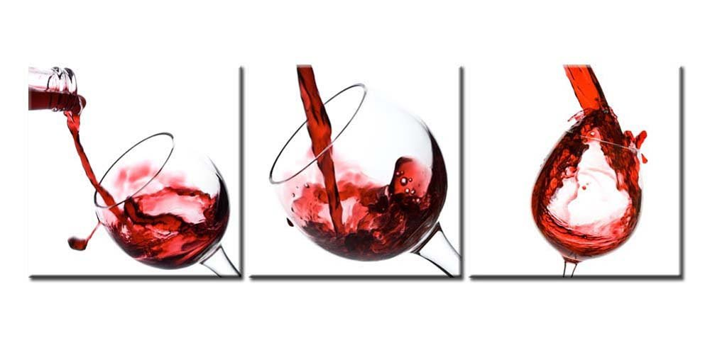 amazon com canvas print wall art painting for home decor red wine