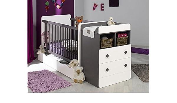 Mobikids - Pack cuna evolutiva MALTE chocolate/blanco con colchón: Amazon.es: Bebé