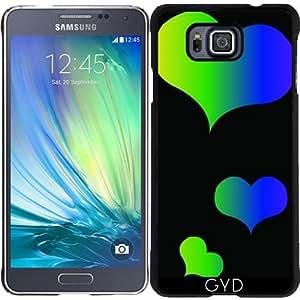 Funda para Samsung Galaxy Alpha - Corazones Multicolores by loki1982