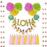 Godagoda Festival party supplies Hawaii flamingo decoration Lahuala flag -1 set