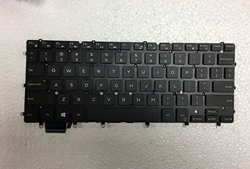 Replacement Keyboard with Backlit No Frame for DELL XPS 13 9343 9350 15 7547 7548 7347 7348 series Black US Layout