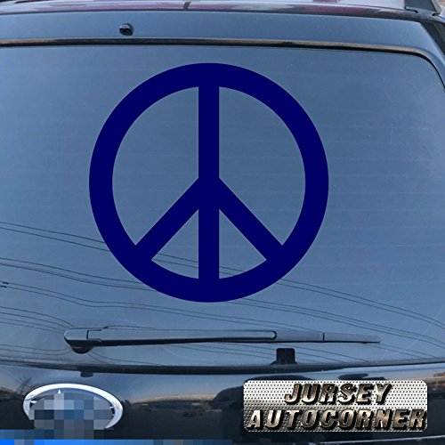 3S MOTORLINE Peace Sign Anti War Symbol Decal Sticker Car Vinyl pick size color die cut no background a (blue, 4'' (10.2cm))