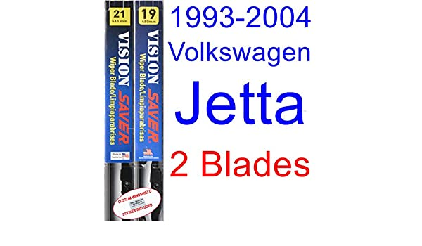 Amazon.com: 1993-2004 Volkswagen Jetta Replacement Wiper Blade Set/Kit (Set of 2 Blades) (Saver Automotive Products-Vision Saver) (1994,1995,1996,1997,1998 ...