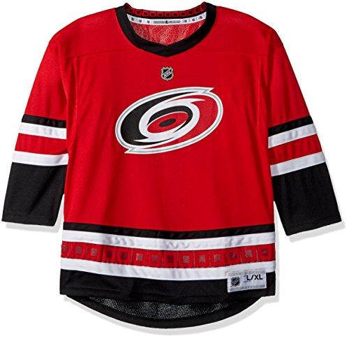 NHL Carolina Hurricanes Youth Boys Replica Home-Team Jersey, Small/Medium, Red