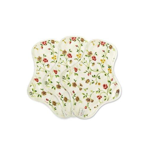 UPC 888557000243, Organic Cotton Reusable Cloth Menstrual Pads - 3 Regular Pads (Erin Flower)
