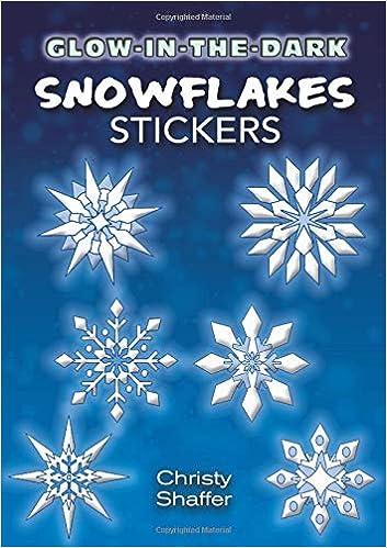 Rainbow Glitter Snowflake Peel off Stickers