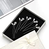 Catery Crystal Bride Wedding Hair Pins Clip Set