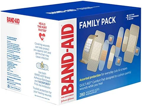 51126HFw5BL. AC - Band-Aid Brand Adhesive Bandage Family Variety Pack, Sheer And Clear Bandages, Assorted Sizes, 280 Ct