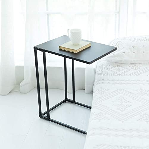 C-Hopetree Small Side Coffee End Table for Sofa – Black Metal