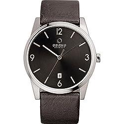 Obaku Watches Mens Leather Watch