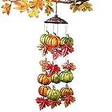 Metallic Autumn Leaves and Pumpkins Windchime