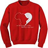 FerociTees Crew Drums Of Africa Quote Black History Pride Culture Adult X-Large Red