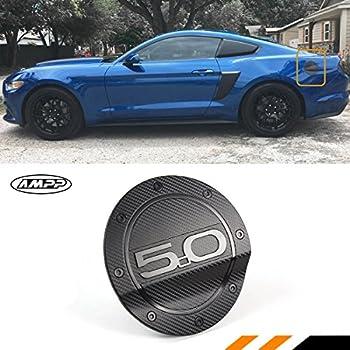 For 2015-2018 Ford Mustang GT Car Fuel Filler Door Cover Gas Tank Cap Black