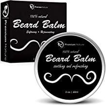 Beard Balm, Mustache Oil Wax, Natural Leave In Conditioner, Soothes, Softens, Tames & Styles Facial Hair Growth, By Premium Nature