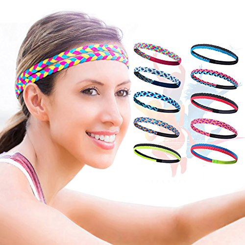 Sports Headbands –Yoga Headbands - Running Fitness Braided Headbands Men's and Women's Sports Hairbands A8-08