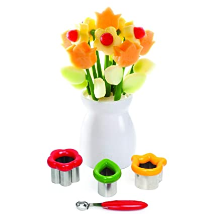 Joie Decorative Fruit Cutter Set And Reusable Display Vase