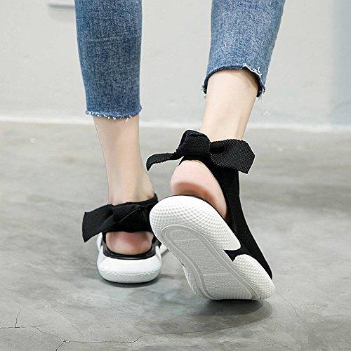 de Espuma de Blanco Cómodo Arco Zapatos Mujer de Sandalias Elástico Goma Paño 39 Plataforma TYERY Mujeres I4Y1Xwxqn