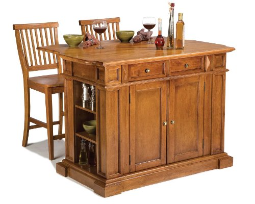 Americana Oak Kitchen Island with Stools by Home Styles for sale  Delivered anywhere in USA