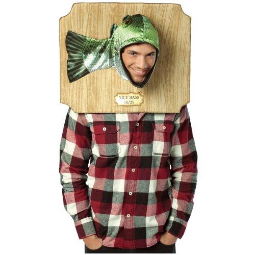 Rasta Man Halloween Costume (Rasta Imposta Nice Bass Trophy Costume, Green, One Size)