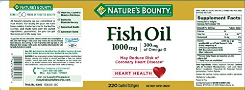 Nature's Bounty Fish Oil 1000 mg Omega-3, 220 Odorless Softgels (Pack of 3) by Nature's Bounty (Image #1)