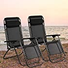 New Zero Gravity Chairs Case Black Lounge Patio Outdoor Yard Beach O62 Lounges