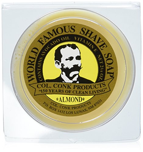 Colonel Ichabod Conk Almond Shave Soap 2.25 Oz (Mug Conk Colonel Shave)