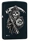 Zippo Sons of Anarchy Grim Reaper Pocket Lighter, Black Matte