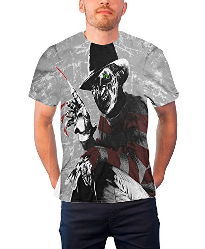 Nightmare On Elm Street T Shirt Allover Print Freddy Krueger Official sub dye]()