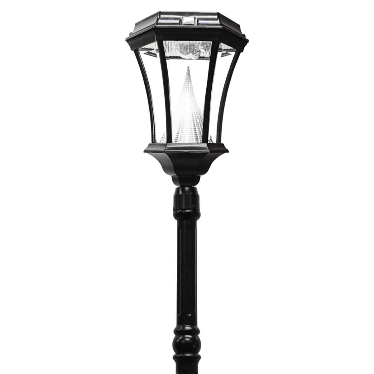 Amazon gama sonic victorian solar lamp post and single lamp amazon gama sonic victorian solar lamp post and single lamp led light fixture 93 inch height black finish gs 94s b outdoor post light accessories aloadofball Image collections