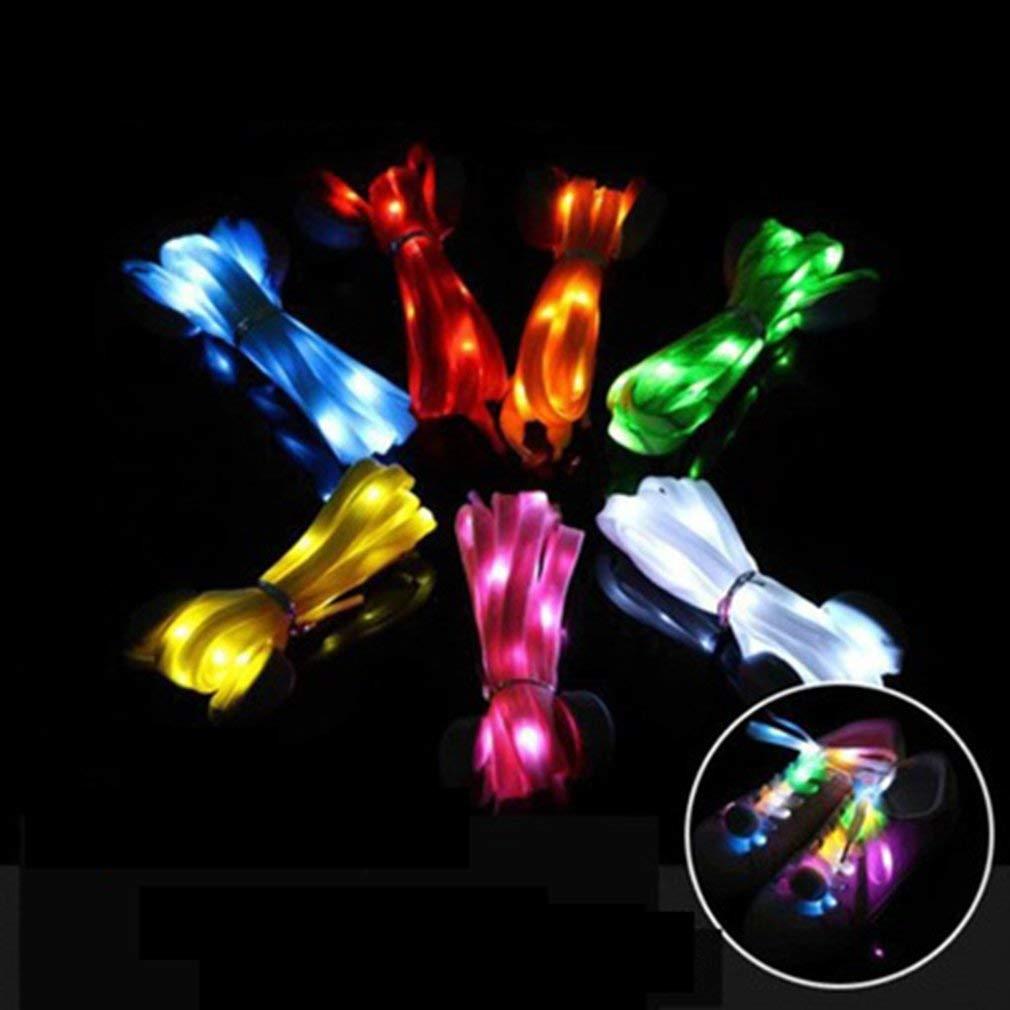 Nylon LED Shoe Laces Luminous Shoelaces Glow Shoe Strings Flash Light Shoelace Blue
