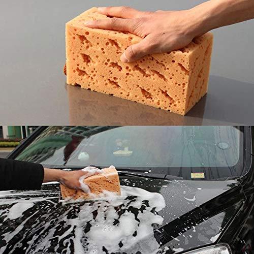 CamKpell Coche Auto Veh/ículo Lavado Limpieza Esponja Lavado de Autos Herramientas Coche Coral Esponja Amarillo