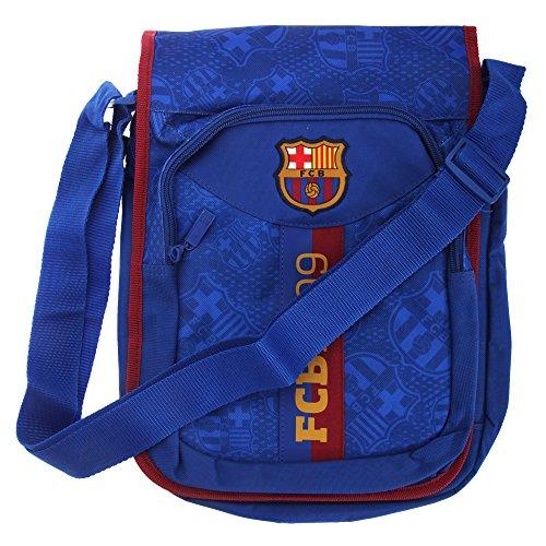 FC Barcelona Official Football Crest Shoulder Bag (One Size) (Blue/Scarlet)