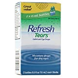 REFRESH TEARS lubricant eye drops 0.5 % 15 ml (2 pack) (Pack of 2)