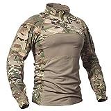 CARWORNIC Men's Tactical Assault Combat Shirt