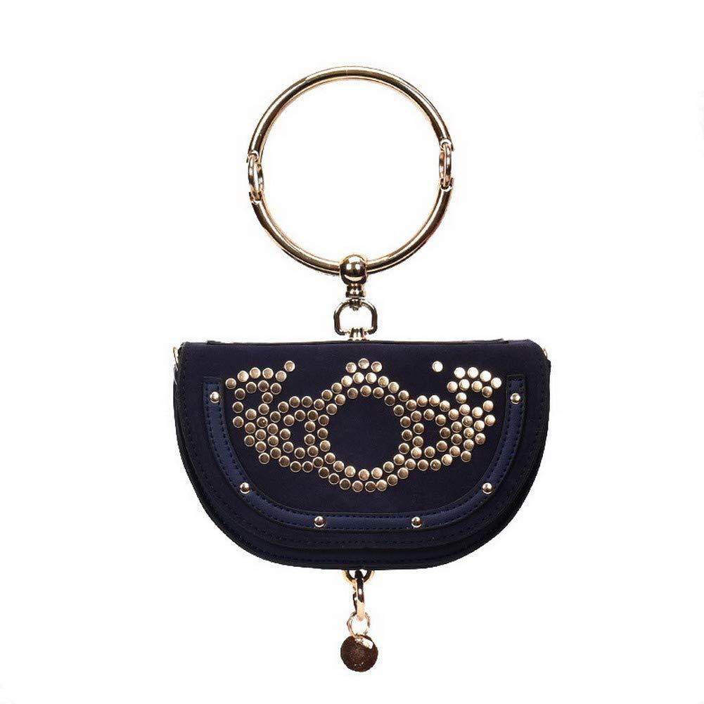 bluee WeiPoot Women's Bags Shopping Ornamented Pu Crossbody Bags,EGHBG182297