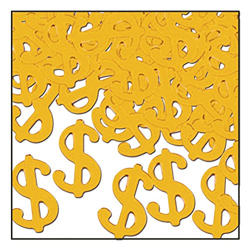 Fanci-Fetti $ Silhouettes (gold) Party Accessory  (1 count) (1 Oz/Pkg) (To Your Ways Decorate Desk)