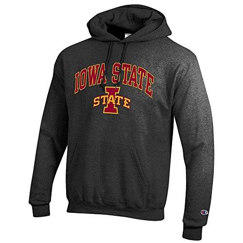 State Iowa Fan (Elite Fan Shop Iowa State Cyclones Hooded Sweatshirt Varsity Charcoal - L)