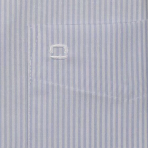 OLYMP Hemd Luxor Modern Fit Business- und Freizeithemd aus 100% Baumwolle mit New Kent Kragen in Bleu Hellblau