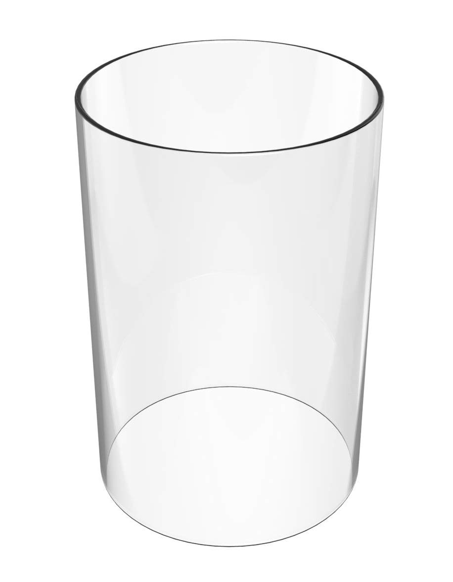 AMAYON Clear Glass Vases - Glass Chimney for Candle Height 10'' Diameter 4.7''- as A Wedding Housewarming Gift Open End Chimney Lampshade -