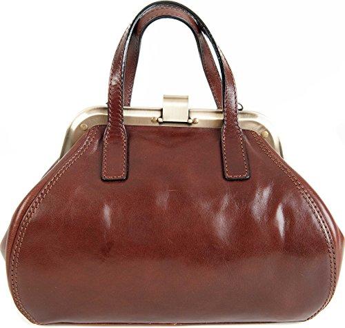 Italian Fine Shoulder Grab Gianni Gladstone Leather Brown Conti 903882 Dark Handbag UE8wxqP5