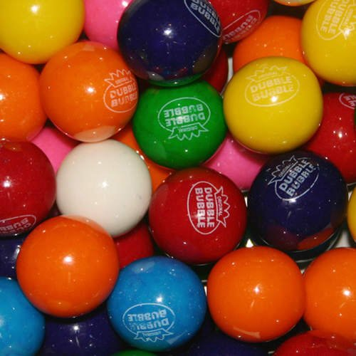 "Dubble Bubble 1"" Diameter Assorted Flavors - 850 Gumballs"