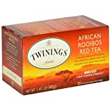Twinings of London Pure Rooibos Herbal Red Tea Bags, 20 Count